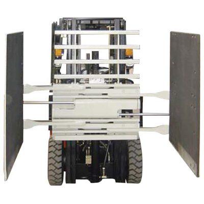 Forklift Attachment Carton Clamp Kelas 3 & 1220 * 1420 mm Ukuran Lengan
