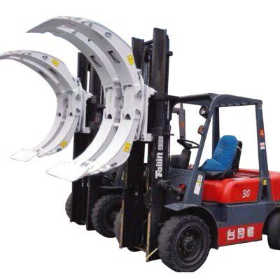 Clamp Rencana Kertas Roll Forklift Swing Frame