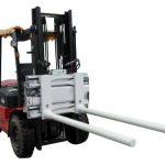 Sisih Keretapi Bar Langsing Kanthi Forklift
