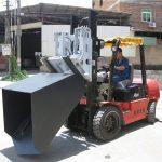 3 ton Hyundai Diesel Forklift Lawang Hinged Fork And Ember